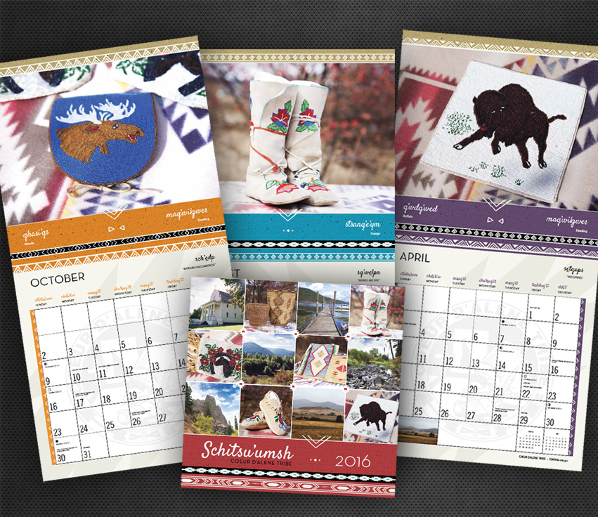 CDA_Tribe_Calendar2016_graphic_design_tran_creatice_idaho_spokane_washinton