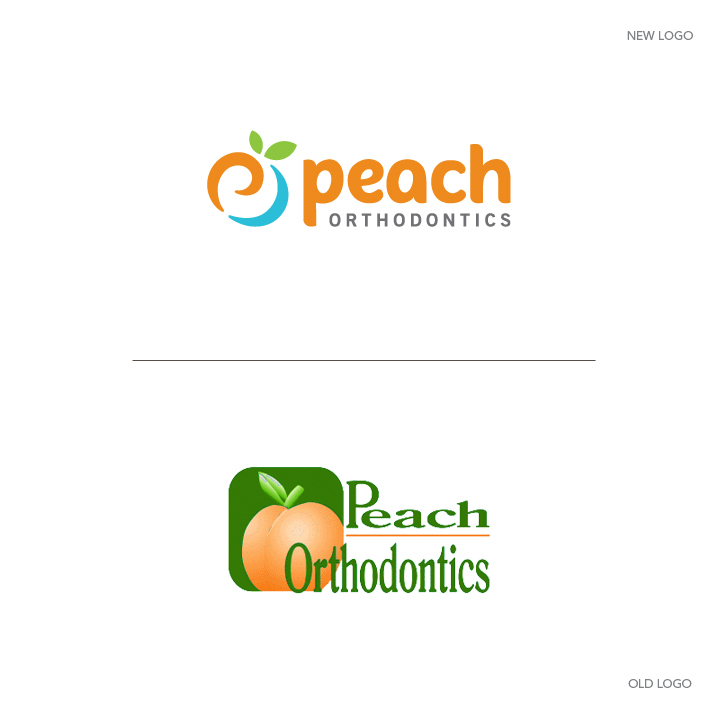 Peach_Orthodontics_logo_design_Tran_Creative_Coeur_d_Alene_Idaho