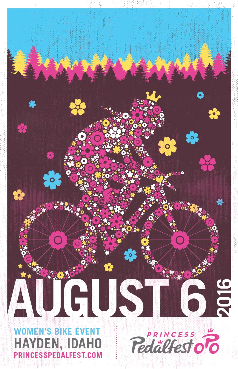 Princess_Pedalfest_BIKE_EVENT_Poster_2016_Tran_Creative_Graphic_Design_Hayden_Idaho