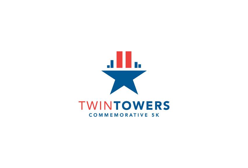 Twin_Towers_commemorative_5K_run_logo_design_tran_creative_graphic_design_coeur_dAlene_Idaho
