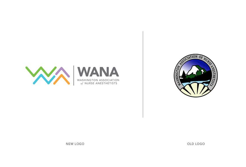WANA_washington_association_of_nurse_anesthetists_tran_creative_logo_design_old_new
