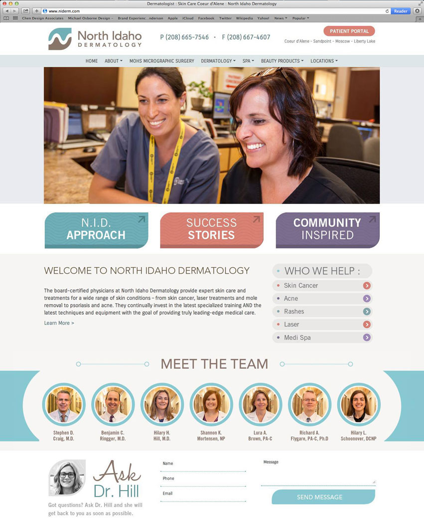 north_idaho_dermatology_tran_creative_website_design