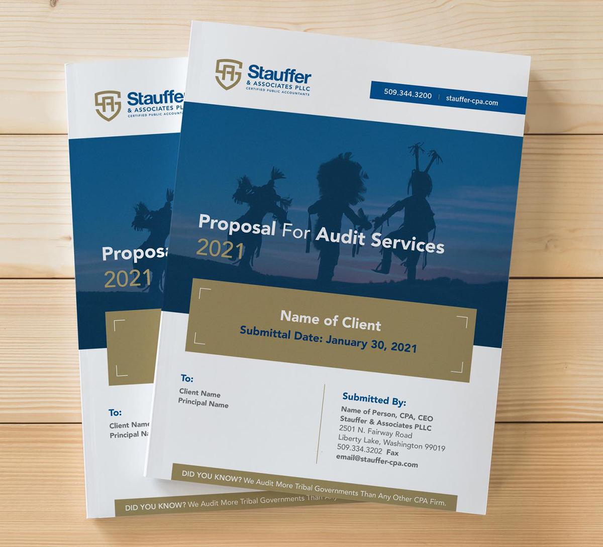 Stauffer & Associates brochure design by tran creative