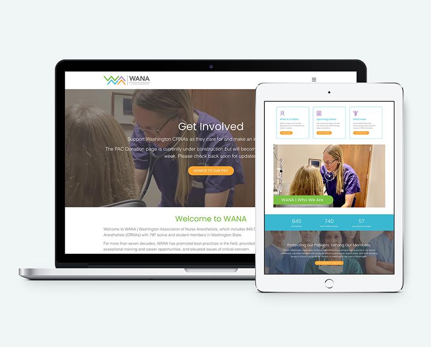 WANA website design by tran creative