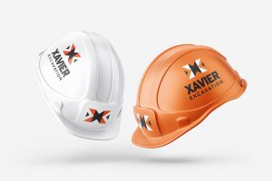 Xavier Excavation Logo on hard hats